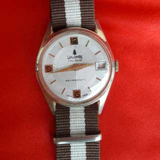 Swiss Waldman Calendar Wrist Watch