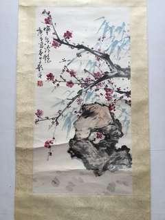 新加坡第二代画家林子影70x35cm Chinese painting