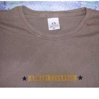 ARMANI EXCHANGE Brown Unisex T-shirt