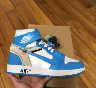 Offwhite UNC X Nike Air Jordan 1 Royal Blue