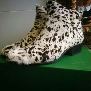 Beau Coops Pony Hide Genuine Speckled Fur Boots