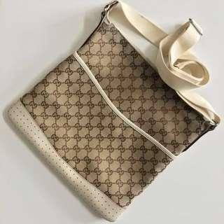 (購自米蘭) Gucci Classic Monogram Crossbody Bag 絕版 罕見 白色真皮 經典 斜揹袋