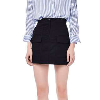 TEM Keisha High-waisted Utility Skirt