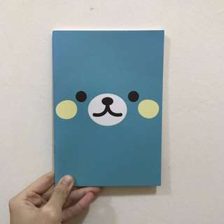 BN Art Box Cute Turquoise Bear Face Line Lined Notebook