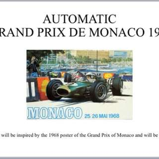 "Ateliers De Monaco - Grand Prix De Monaco 1968 Bespoke ""Only"" Watch"