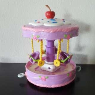 BANDAI Strawberry Shortcake Berry Cute Ride Cakewalk Carousel (Rare Vintage Toy)
