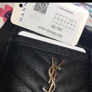 Ysl cardholder 銀扣