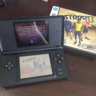 Nintendo DS Lite Black With Game Card