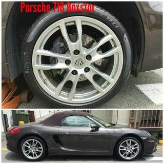 Tyre 235/40 n 265/40 R19 Pirelli on Porsche Boxstor 🙋♂️
