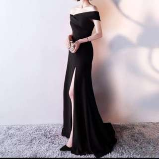 全新 黑色晚裝 晚禮服