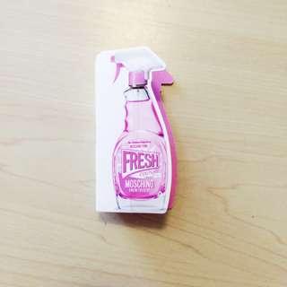 [只求快速賣出~] 全新 原價$780/30ml Moschino Pink Fresh Couture Eau de Toilette 粉紅色清潔劑香水 試用裝