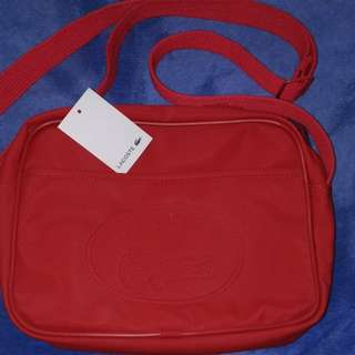 Authentic Preloved Lacoste bag/sling red