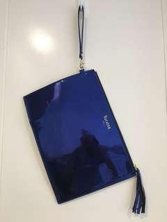 Metallic Blue Party Clutch