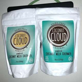 ***quick sale $10***    2 packs Coconut Cloud Dairy Free powdered creamer (original and vanilla flavor)