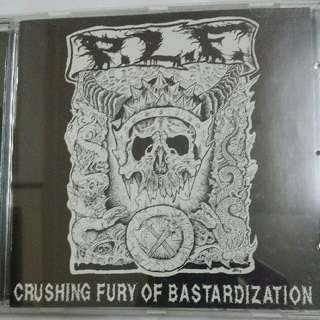 Music CD: P.L.F. ‎– Crushing Fury Of Bastardization - Grindcore