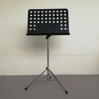 Music stand, height adjustable