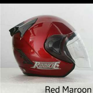 Helmt thi rookie red maroon
