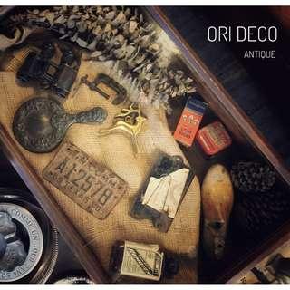 //ORI DECO工業風老件// 美國 上掀式 桌上 老展示盒 木盒 老橡木