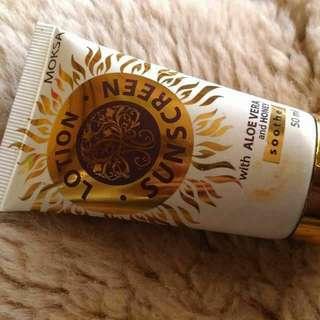 Moksa Aloe Vera Sunscreen dari Bali Alus