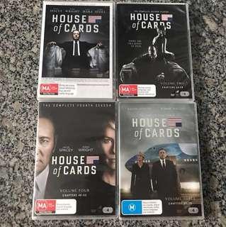House of Cards Seasons 1-4 ( Box Set )