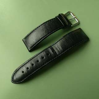20mm used leather watch strap
