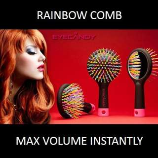 ★[NEW] SALE★ Eyecandy Rainbow Brush: Achieve Natural Voluminous Hair Without the Fuss!