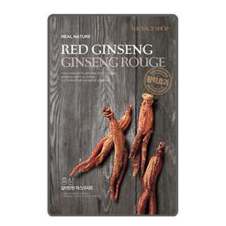 Red ginseng facial mask