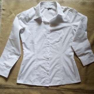 White shirt kemeja putih brand merk