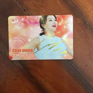 TWICE Chaeyoung yes card
