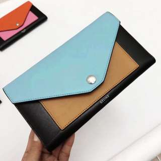 Celine large pocket wallet