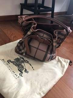 Authentic Burberry belted hobo shoulder bag