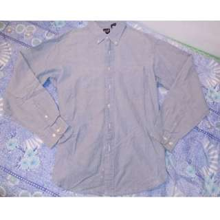 GAP Light Wash Collared Long Sleeves