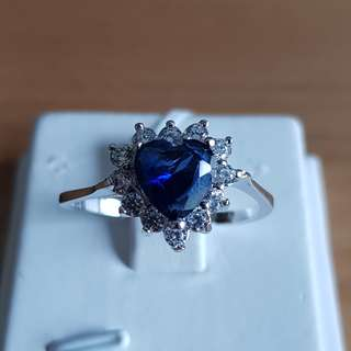Blue Sapphire (Synthetic) Ring