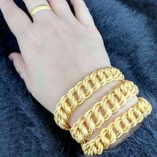 Bracelet Gold 916 Ori 100%