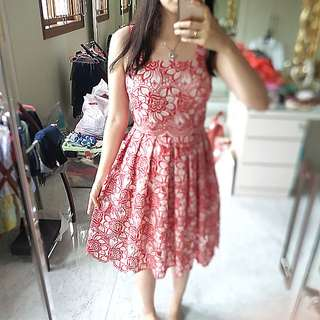 D&G Red Lace Sundress