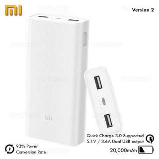 Mi Powerbank 2 20,000 mAh Authentic WHITE
