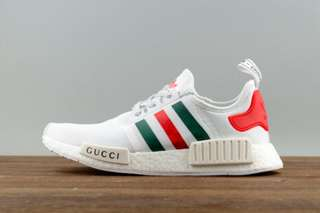Authentic Gucci x Nmd white