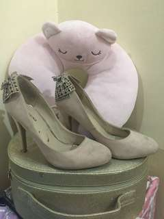 Call It Spring Heels (Beige size 6)