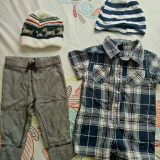 Baby boy clothes (0-6months)