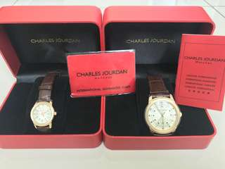 Charles Jourdan couple watches