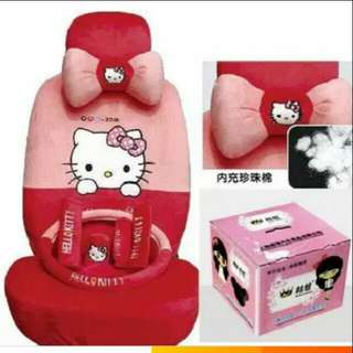 Hello Kitty universal car seat cover full set.