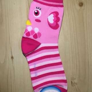 全新韓國粉紅橫間小雞女裝襪