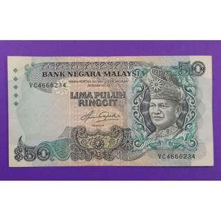 JanJun $50 5th Siri 5 Aziz Taha RM50 Wang Duit Lama 1982