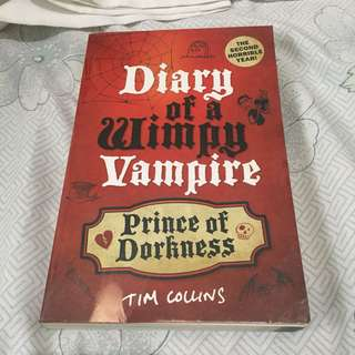 Prince of Dorkness: Diary of a Wimpy Vampire (Book 2) of Tim Collins