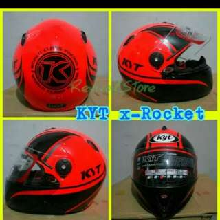 Helmet KYT rocket red