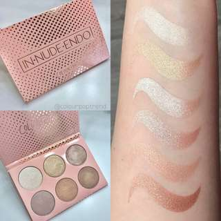 Colourpop In Nude Endo Highlighting pallette