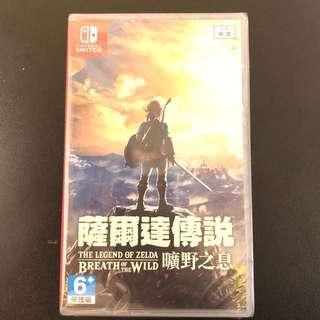 全新 Switch Zelda 薩爾達傳說曠野之息中英日文