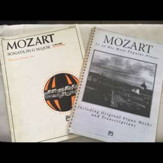 Piano music sheets - Mozart