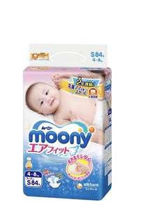 Moony Air Fit Diaper S size 84pcs