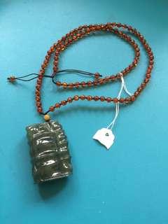 緬甸A玉+22寸 天然琥珀項鍊